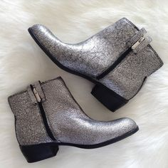 Sam Edelman ankle booties Brand new, never used. Such a cute pair of booties. Zips at the side. Silver hardware. Sam Edelman Shoes Ankle Boots & Booties