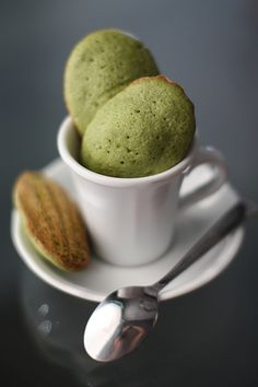 #Matcha Green Tea Madeleines