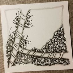 Zentangle 041116. #zentangle #zendoodle #doodle #doodleart #drawing #draw…