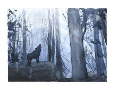 Das Leben ist einfach besser mit Tieren um! Verschönern Sie Ihr Haus und den Geist mit dieser Giclée-Druck von einem Aquarell ein einsamer Wolf im Wald. Ich kann nicht helfen, aber Lächeln und fröhlich sein, wenn Tiere herum sind. Hoffentlich macht dieses Gemälde das gleiche für Sie. Genießen Sie dieses ganz persönliches Kunstwerk!  ________________________________________________________  Größe: Wählen Sie die Größe, die Ihrem Budget am besten passt Vom Künstler handsigniert Medien: Fine…