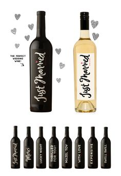 just married wine