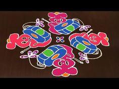 Latest Rangoli Kolam Designs for Sankranti With 16 to 4 Dots [Rangoli Dizain] This tutorial will show you how to draw Beautiful Indian traditional art Rangol. Easy Rangoli Patterns, Rangoli Kolam Designs, Rangoli Designs With Dots, Rangoli Designs Images, Rangoli With Dots, Simple Rangoli, Latest Rangoli, Indian Rangoli, Diy Earrings