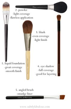 make-up brush guide-love the Jane Iredale brushes