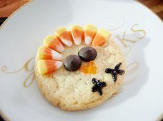Slice-and-Bake Turkey Cookies recipe from Giada De Laurentiis via Food Network