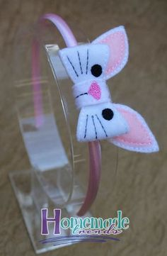 Animal Hair Accessory-Bunny Accessory-Felt Bunny di HomemadeTrends