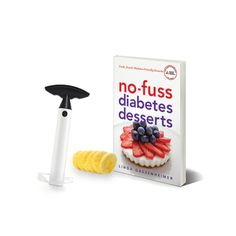 "This healthy living kit includes ""No-Fuss #Diabetes #Desserts"" #cookbook and Pineapple Slicer."