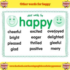 other words for happy - learning English basics