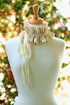 Mademoiselle Mermaid's Convertible Ruffle Collar - Victorian Fashion