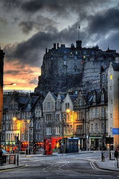 Dusk, Edinburgh, Scotland.
