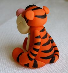 "Tigger ""Winnie the Pooh""  inspired Fondant Cake/Cupcake Topper. $24.95, via Etsy."