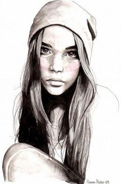 Life-like Girl Sketch