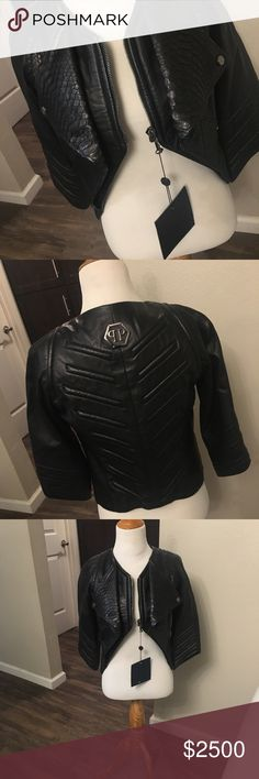 Phillip Plein Women's Black Leather Jacket 2014/2015 Philipp Plein Limited Edition Black Leather Jacket worth over $3600. Made in Italy. All new with tags! Phillip Plein Jackets & Coats