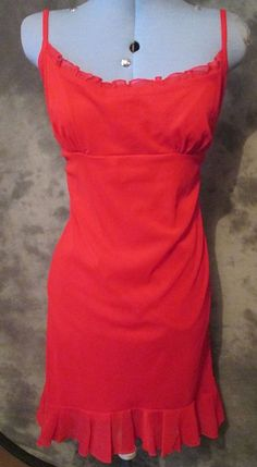 Kit,ladies,size16,red,no pattern,polyester,calf length,casual,strappy,eve,dress.