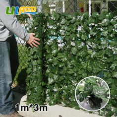 1m x 3m Plastic Garden Fence Artificial Boxwood Hedge Faux Ivy Privacy Artificial Plants Fence Screen Fencing Wall Outdoor Decor