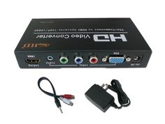 """ViewHD Component RGB YPbPr / VGA to HDMI 720P / 1080P PC to TV Upscaling Converter by ViewHD. $49.95. Attention: Please make sure your TV can support 720P / 1080P, this converter has output format auto up-scaled to 720P or 1080P for best compatibility; if the TV can't support 720P, it will not have picture.  This ViewHD analog to digital converter is a well built product in full metal jacket, not cheap plastic box. Its unique """"zoom"""" feature for VGA input offers ..."""
