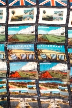 Lily and Lionel scarves : Eastbourne Postcards