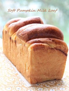 Soft Pumpkin Milk Loaf