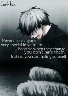 Sad Anime Quotes, Manga Quotes, Lonely Quotes, Sad Love Quotes, Tokyo Ghoul Quotes, Rasengan Vs Chidori, Tokyo Ghoul Wallpapers, Savage Quotes, Dark Quotes