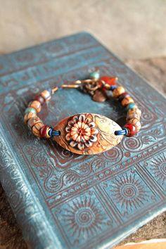 Resrved for TT - Unearthed Boho Bracelet