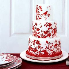 175 Best Red And White Cakes Images In 2019 White Cakes Amazing