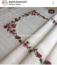 Diy Embroidery, Diy And Crafts, Knitting Patterns, Cross Stitch, Instagram, Cute Cross Stitch, Embroidered Towels, Cross Stitch Embroidery, Hardanger