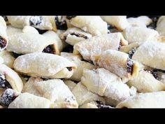Cornulețe fragede cu untură - YouTube Crochet Basket Pattern, Biscotti, Feta, Bakery, Cheese, Youtube, Youtubers, Cookie Recipes, Youtube Movies