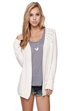 LA Hearts Studded Shoulder Cardigan at PacSun. Bought this and I love it!