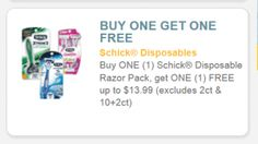 ~ I Found A Great BOGO #Free Up to $13.99 Schick #Coupon