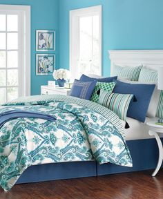Martha Stewart Collection Adana Reversible 10-Pc. California King Comforter Set, Only at Macy's