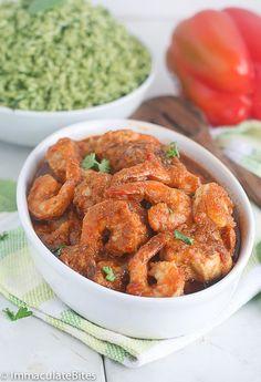 Liberian chicken gravy (chicken, fish, shrimp stew) *can omit the fish if preferred