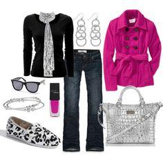 winter accessorized look