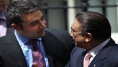 Asif Ali Zardari in London to placate Bilawal