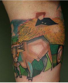 Cow tattoo by Wonka