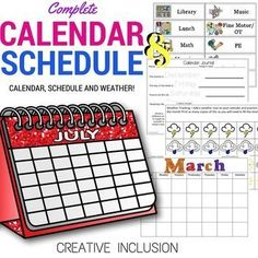 GREAT Calendar and activities for students who do well with visual supports for their schedule! Multiple opportunities for gaining number sense with really attractive images!