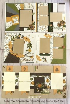 """Hi, Happy October! A few weeks ago, I created some Fall layouts using CTMH's """"Falling For You"""" line. I'll be teaching classes on these LO. Paper Bag Scrapbook, Scrapbook Journal, Travel Scrapbook, Scrapbook Cards, Picture Scrapbook, Friend Scrapbook, Scrapbook Layout Sketches, Scrapbook Templates, Scrapbook Designs"""