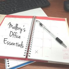 Office Essentials #blog #office #work #cubicle