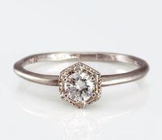 Satomi Kawakita white diamond ring