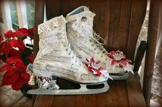 Decorated Ice Skates by Calsidyrose, via Flickr