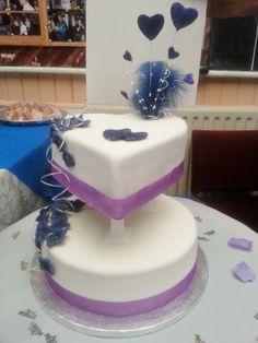 Lee's Cadbury Purple Wedding Cake