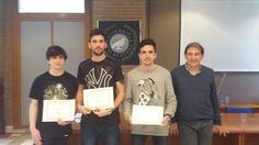 Entrega de Premios en Andalucía. Grupo Filoctetes, Baco y Minerva (ausente por enfermedad). Tercer Premio en la Fase Estatal. Group