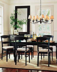 I love black dining room furniture...