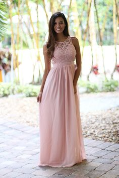 Blush Lace Maxi Dress – Saved by the Dress