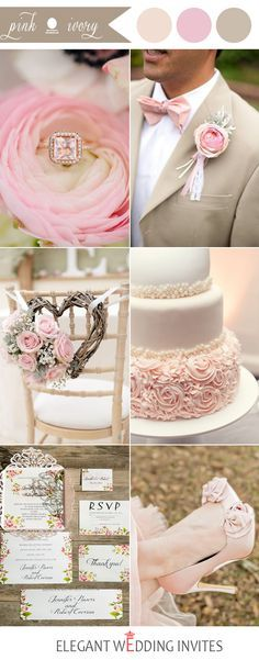 pink and ivory wedding color ideas