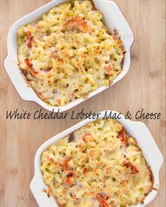 White Cheddar Lobster Mac and Cheese Recipe - Decadent Comfort Food Lobster Mac N Cheese Recipe, Seafood Mac And Cheese, Mac Cheese Recipes, Lobster Recipes, Macaroni Cheese, Seafood Dishes, Pasta Dishes, Fish Recipes, Seafood Recipes