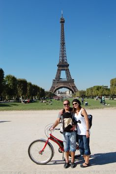 Biking in Paris is a great way to get around and site see -  we took a day and night tour with Fat Tire bike tours.