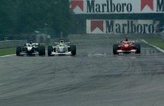 Sorpasso storico di Hakkinen su Schumacher a Spa nel 2000