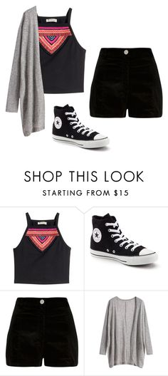 """#79"" by tropicaldoze ❤ liked on Polyvore featuring H&M, Converse and River Island"