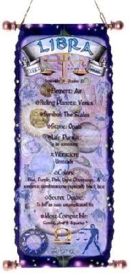 Zodiac Libra Art Print Horoscope Children Wall Woman
