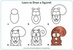 ¿Qué puedo hacer hoy?: Dibujos paso a paso: ardilla