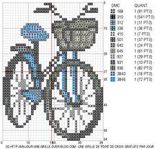 Bicycle cross stitch